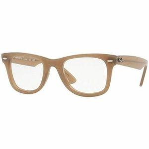 Ray-Ban Wayfarer Eyeglasses Beige W/Demo Lens